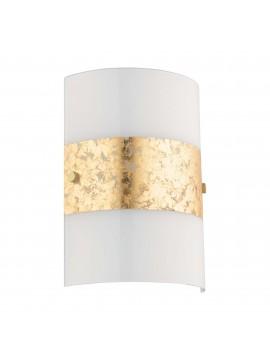 Applique moderno design foglia oro 1 luce GLO 97657 Fiumana