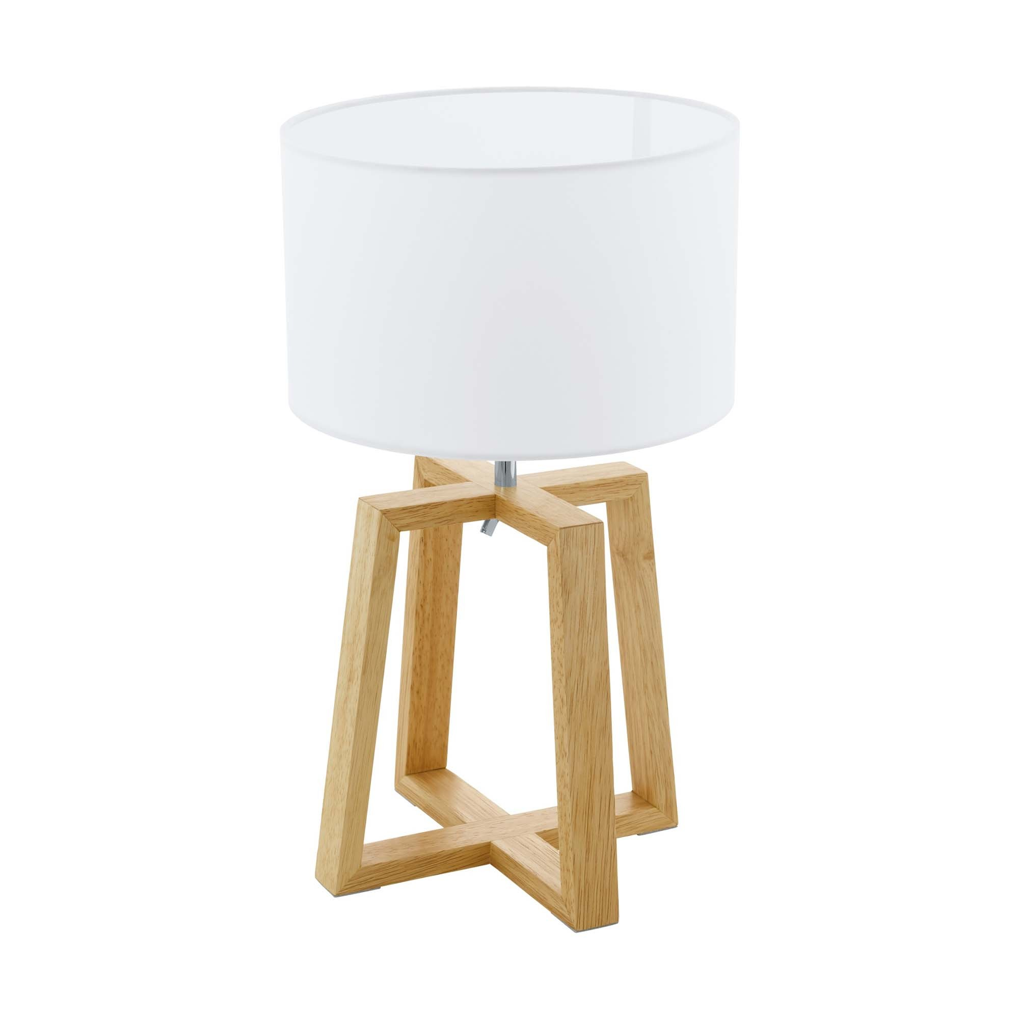 60/W Legno Chiaro//Bianco metallo//legno//Tessuto 1/x E27/max Moderna lampada da terra in legno con paralume in tessuto