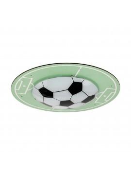 Plafoniera per cameretta bambini campo calcio 1 luce GLO 97667 Tabara