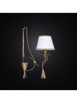 Applique rustico in ferro battuto corda oro 1 luce BGA 2262-ap1vf