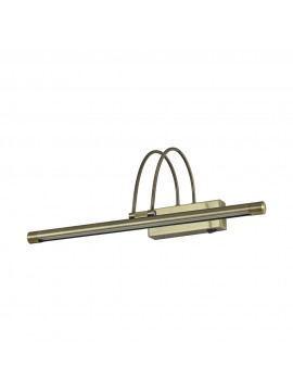 Applique a 1 luce moderno a led coll. bow ap66 brunito