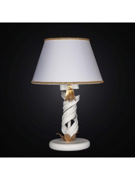 Classic large lamp in white wrought iron and gold leaf 1 light BGA 2265-lg