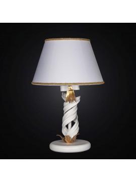 Lume grande classico in ferro battuto bianco e foglia oro 1 luce BGA 2265-lg