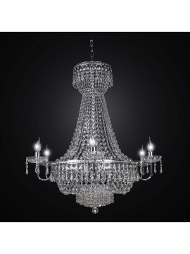 Classic chandelier in silver crystal swarovsky design 15 lights BGA 2277-15