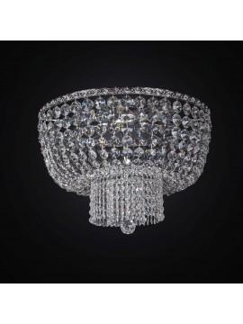 Plafoniera classica in cristallo argento design swarovsky 6 luci BGA 2286-pl50