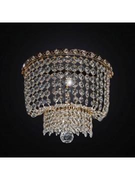 Applique classico in cristallo oro design swarovsky 1 luce BGA 2286-a