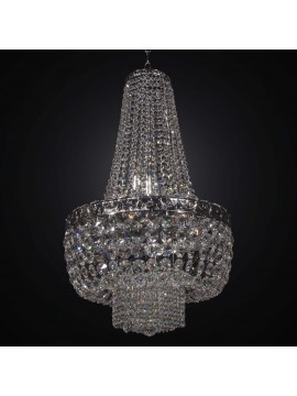 Classic chandelier in silver crystal swarovsky design 9 lights BGA 2296-45