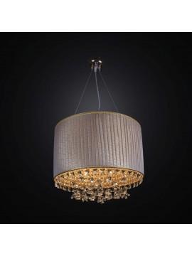 Lampadario classico in tessuto e cristallo design swarovsky 6 luci BGA 2283-s40