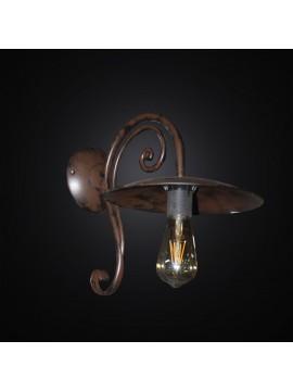 Applique rustico in ferro battuto ruggine antico 1 luce BGA 3011-a1