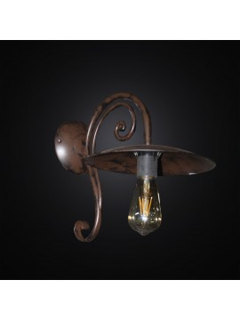 Rustic wrought iron antique rust sconce 1 light BGA 3011-a1