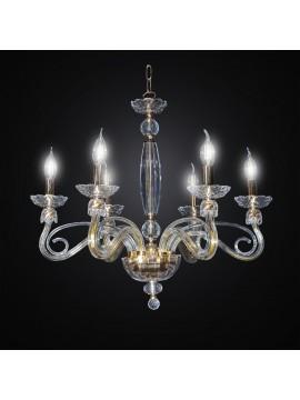 Lampadario in cristallo classico oro design swarovsky 6 luci BGA 3012-6