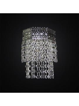 Applique classico in cristallo cromato design swarovsky 1 luce BGA 3017-a1