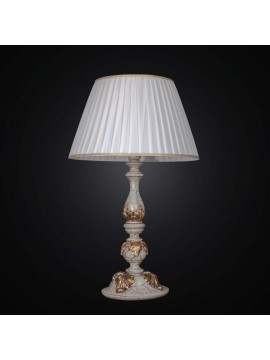 Large wooden classic crackle lamp with gold leaf 1 light BGA 1479-lg