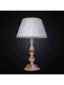 Lume grande in legno classico crackle foglia oro 1 luce BGA 1479-lg