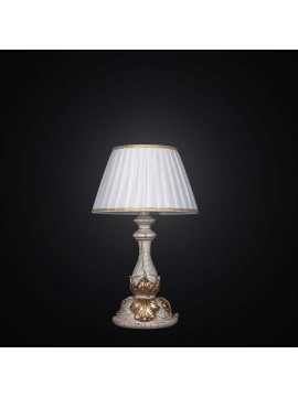 Classic table lamp in crackle gold leaf 1 light BGA 1479-lp