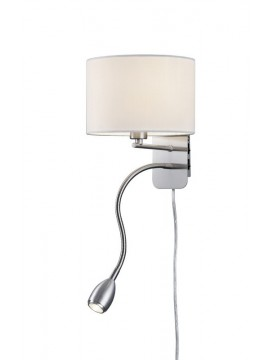 Applique a Led bianco in stoffa trio 271170201 Hotel