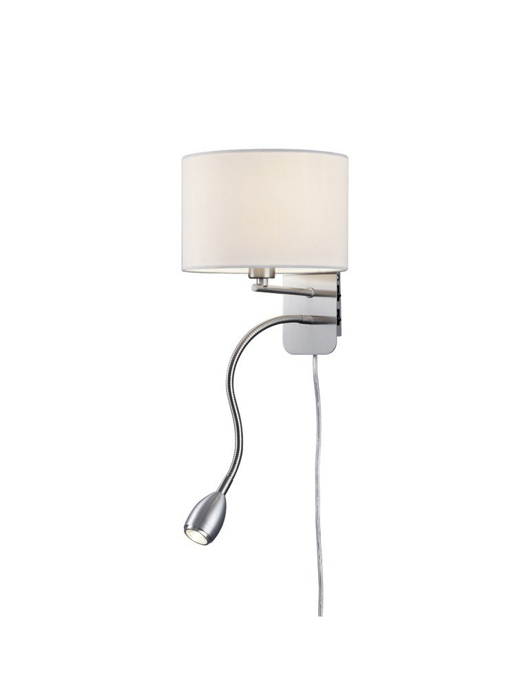 White LED wall lamp in trio 271170201 Hotel fabric