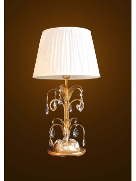 Classic large lamp in wood and wrought iron gold-silver leaf 1 light BGA 1595-lg