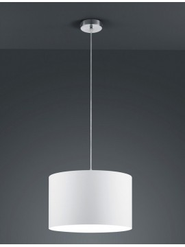 Chandelier in white fabric 1 light trio 303300101 Hotel