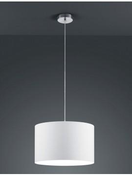 Lampadario in tessuto bianco 1 luce trio 303300101 Hotel