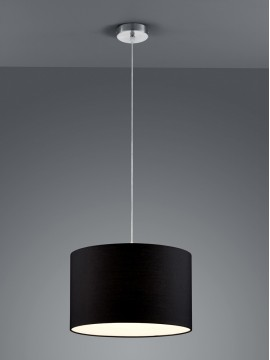 Chandelier in black fabric 1 light trio 303300102 Hotel