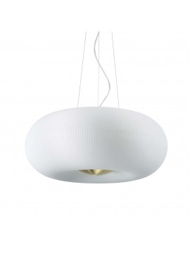 Classic white glass ceiling light 5 lights ideal-lux design ...
