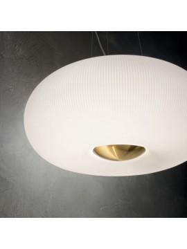 Lampadario classico in vetro bianco 3 luci design ideal-lux Arizona sp3