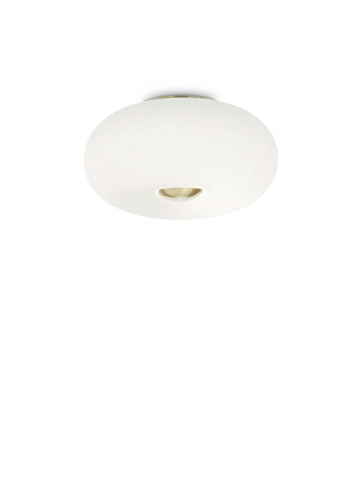 Classic white glass ceiling light 5 lights ideal-lux design Arizona pl5