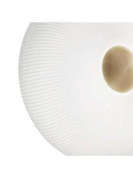 Plafoniera classica in vetro bianco 2 luci design ideal-lux Arizona pl2