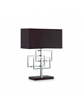 Lumetto lampada moderna nera design ideal-lux Luxury tl1 cromo