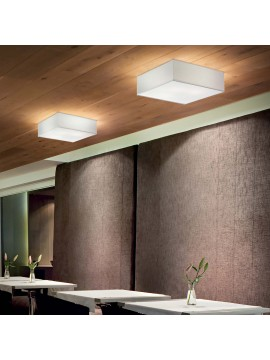 Modern square ceiling lamp in white ideal-lux design Ritz pl4 d.40