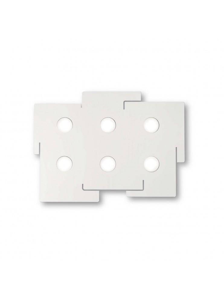 Modern design white ceiling lamp ideal-lux laser plate Totem pl6