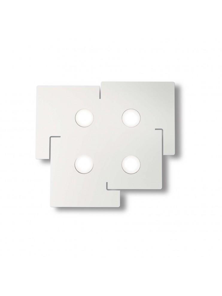 Modern design white ceiling lamp ideal-lux laser plate Totem pl4