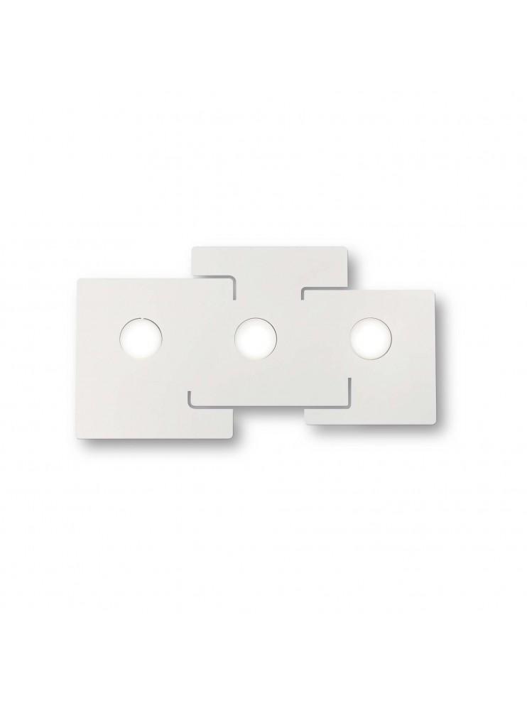 Modern design white ceiling lamp ideal-lux laser plate Totem pl3