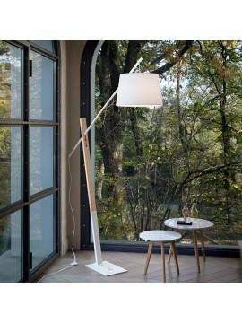 Piantana moderna design con legno naturale ideal-lux Eminent pt1