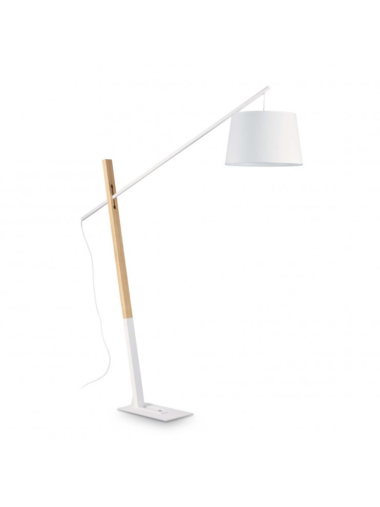 Modern design floor lamp with natural ideal-lux wood Eminent pt1
