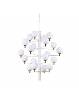 Lampadario moderna design minimal ideal-lux Copernico sp20 bianco