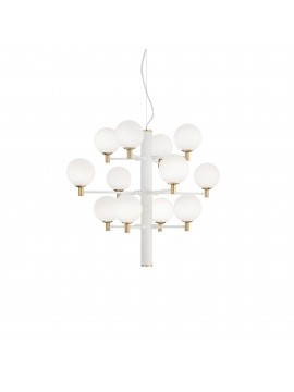 Lampadario moderno 12 luci design minimal ideal-lux Copernico sp12 bianco