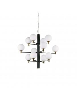 Lampadario moderno 12 luci design minimal ideal-lux Copernico sp12 nero