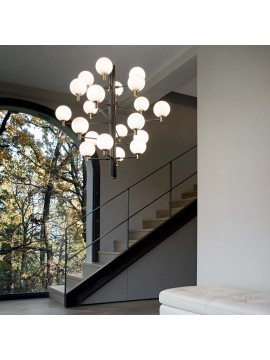 Modern chandelier 20 lights minimal ideal-lux design Copernicus sp20 black