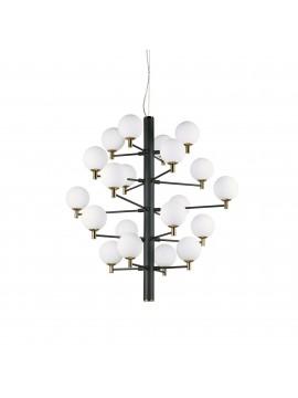 Lampadario moderno 20 luci design minimal ideal-lux Copernico sp20 nero