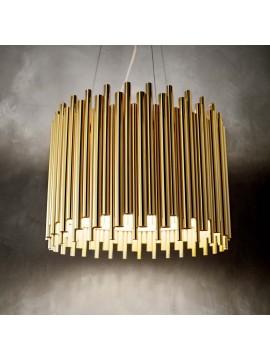Lampadario classico a 5 luci design minimal oro ideal-lux Pan sp5