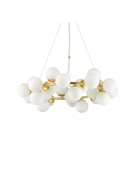Classic chandelier with 25 lights minimal gold design ideal-lux Dna sp25