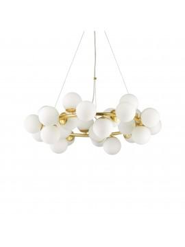 Lampadario classico a 25 luci design minimal oro ideal-lux Dna sp25