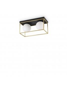 Plafoniera vintage oro e nero 2 luci ideal-lux Lingotto pl2