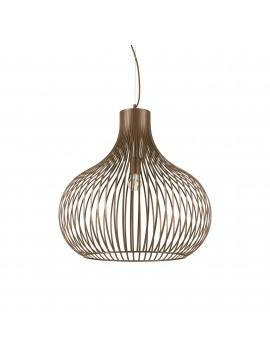 Lampadario vintage moderno design 1 luce ideal-lux Onion sp1 d.60cm