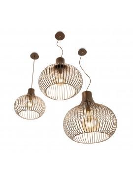 Lampadario vintage moderno design 1 luce ideal-lux Onion sp1 d.23cm