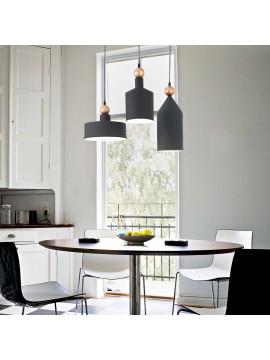 Lampadario vintage moderno nero design 3 luci ideal-lux Triade sp3