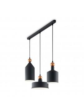 Modern black vintage chandelier design 3 ideal-lux lights Triad sp3