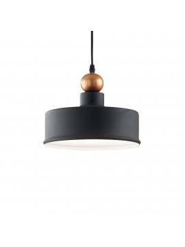 Modern vintage black chandelier design with 1 light ideal-lux Triad 2 sp1